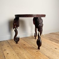 Late 19th C Anglo Indian Teak Elephant Table